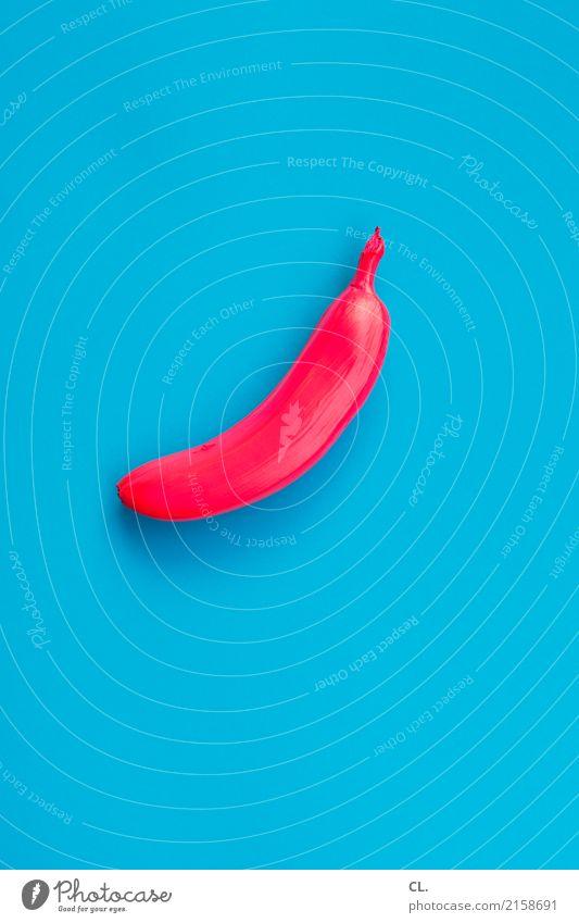 exot Lebensmittel Frucht Banane Ernährung Kunst Kunstwerk Zeichen ästhetisch außergewöhnlich exotisch einzigartig blau rot bizarr Design Farbe Idee innovativ