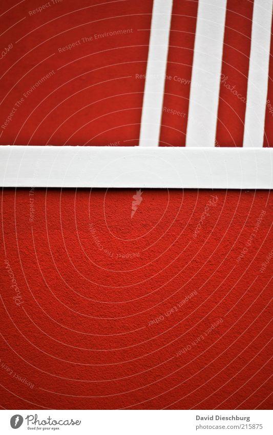Rot/weiß ohne Fritten Wand Architektur Farbstoff Mauer Gebäude Linie Hintergrundbild rosa Fassade Bauwerk parallel Symmetrie graphisch Geometrie horizontal