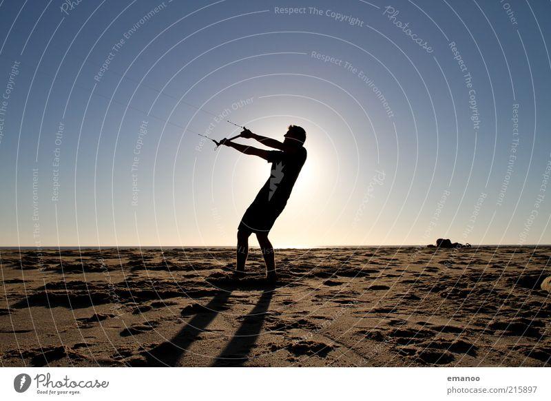 windy summer evening Lifestyle Freude Freizeit & Hobby Ferien & Urlaub & Reisen Tourismus Freiheit Sommer Sommerurlaub Sonne Strand Sport Mensch maskulin Körper