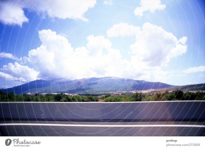 Schaufenster Natur Himmel Sonne Pflanze Sommer Freude Ferien & Urlaub & Reisen Wolken Ferne Frühling Wege & Pfade Wärme Landschaft Linie Wetter Umwelt