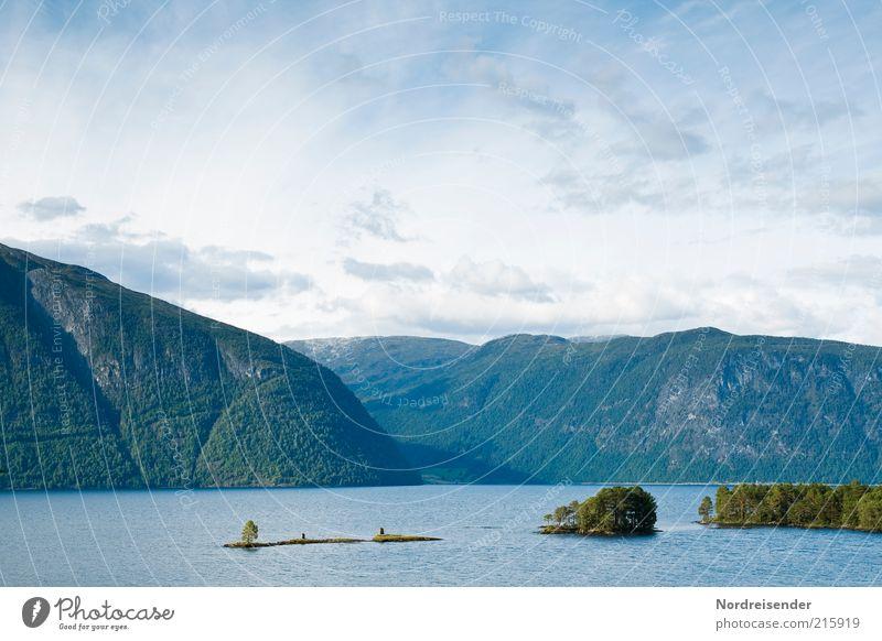 Der Tiefste in Europa Himmel Natur Wasser Sommer Ferien & Urlaub & Reisen Wolken Einsamkeit Ferne Erholung Freiheit Berge u. Gebirge Landschaft See Ausflug