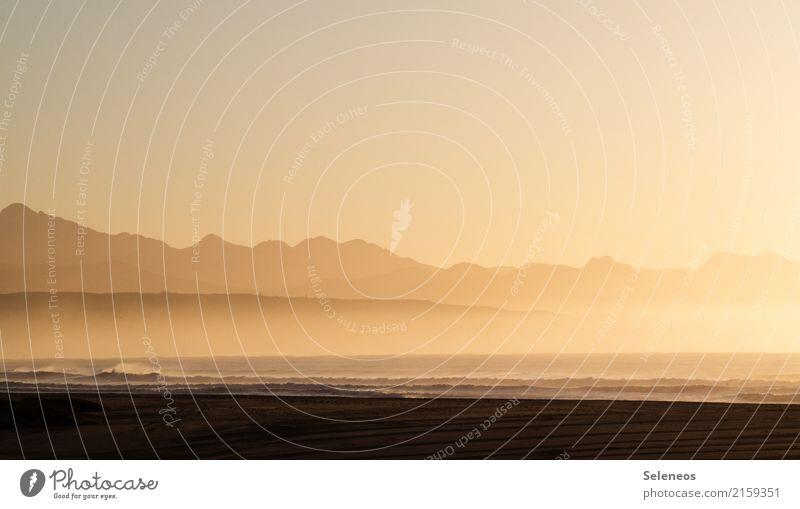 Guten Morgen Sonnenschein Himmel Natur Ferien & Urlaub & Reisen Sommer Landschaft Meer Erholung ruhig Ferne Strand Berge u. Gebirge Umwelt Küste Tourismus