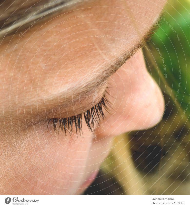 Gedanken Kindererziehung lernen Schüler feminin Mädchen Eltern Erwachsene Kindheit Kopf Haare & Frisuren Gesicht Auge Nase Augenbraue Haut Wimpern 1 Mensch