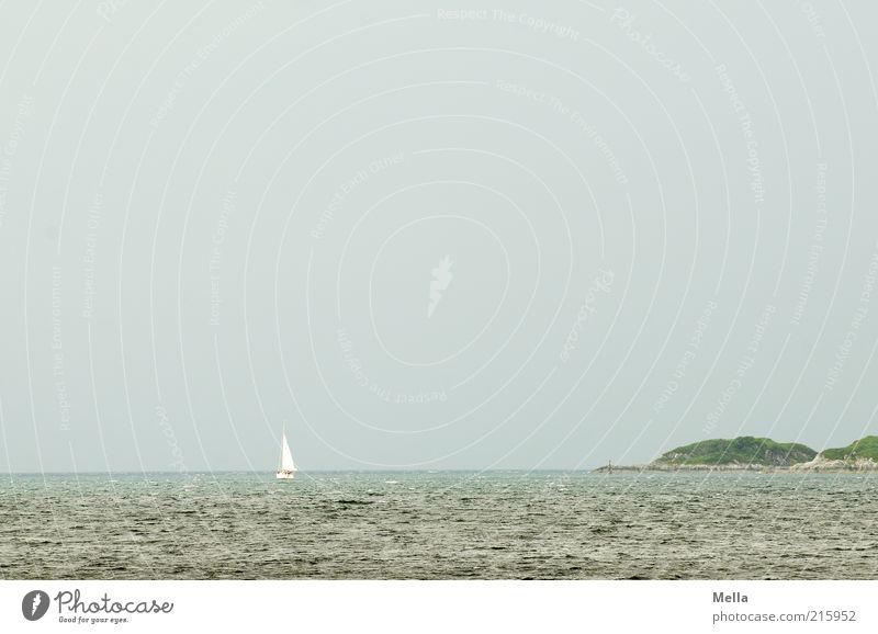 Hart am Wind Himmel Natur blau Wasser Ferien & Urlaub & Reisen Meer Ferne Umwelt Landschaft Freiheit Küste Stimmung Horizont Wellen Freizeit & Hobby Ausflug