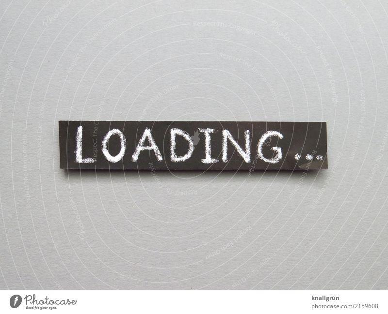 LOADING... weiß schwarz Zeit grau Schriftzeichen Kommunizieren Technik & Technologie Schilder & Markierungen Computer warten Geschwindigkeit Neugier eckig
