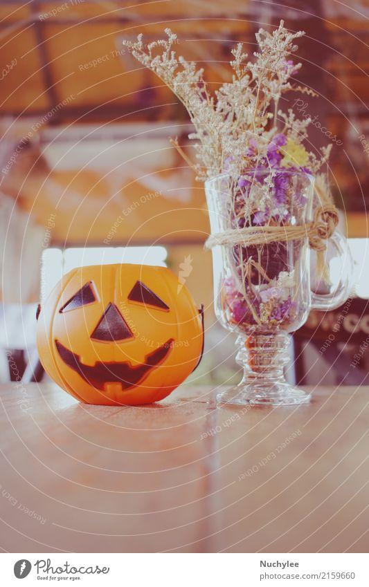Kürbis für Halloween Blume Stil Feste & Feiern Design Textfreiraum retro Dekoration & Verzierung Tisch Symbole & Metaphern Jahreszeiten Restaurant Café festlich