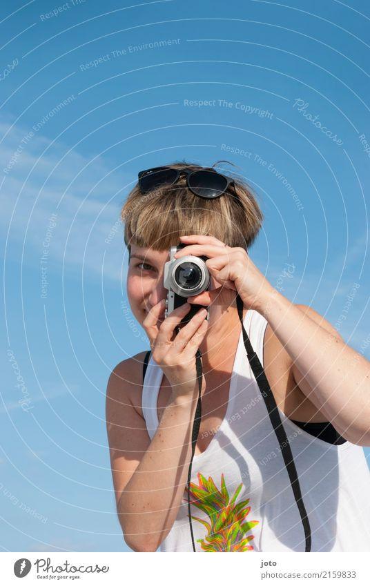 Ich sehe dich :) Freude Glück Zufriedenheit Freizeit & Hobby Ferien & Urlaub & Reisen Tourismus Ausflug Freiheit Sightseeing Sommer Sommerurlaub Fotokamera