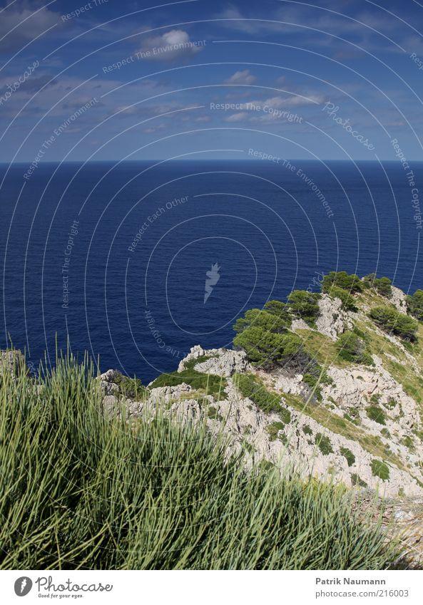 Weitsicht Wasser Himmel Sommer Ferien & Urlaub & Reisen Ferne Freiheit Landschaft Küste Wellen Horizont Felsen Insel Mallorca Sommerurlaub Cap Formentor