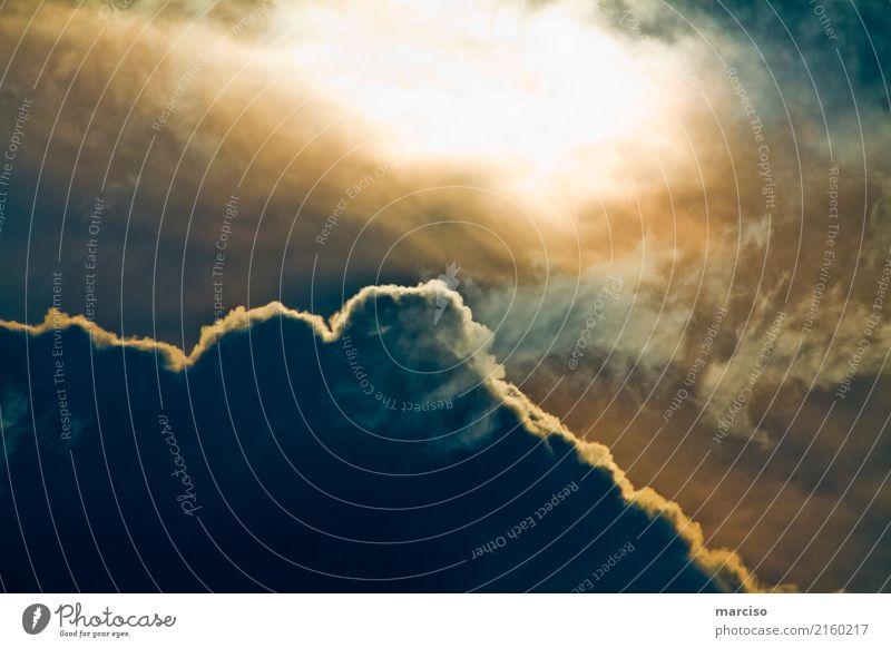 Hello Sun! Umwelt Urelemente Luft Wasser Himmel nur Himmel Wolken Gewitterwolken Sonne Klima Klimawandel Wetter schlechtes Wetter Unwetter Wind Sturm bedrohlich