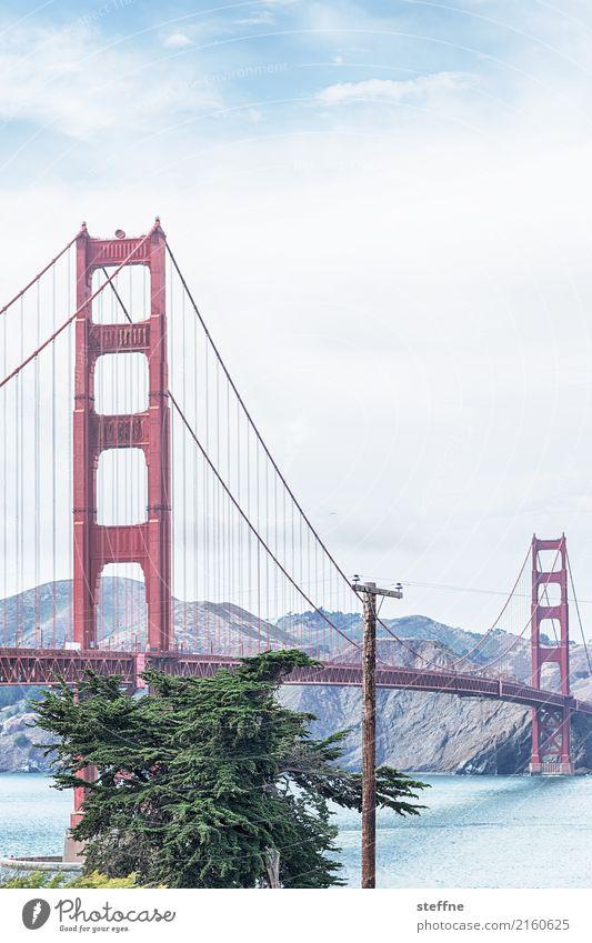 Around the World: San Francisco Reisefotografie Tourismus Ferien & Urlaub & Reisen Rundreise around the world steffne Golden Gate Bridge Wahrzeichen Postkarte