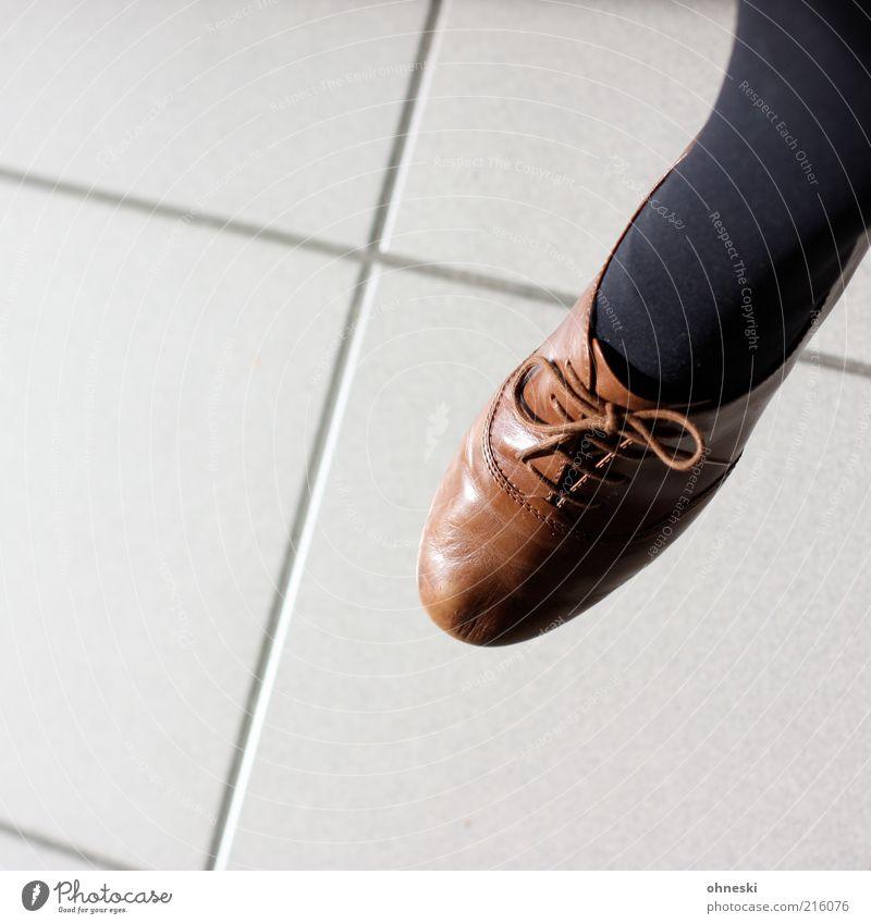 Damenschuh braun Schuhe Bekleidung Fliesen u. Kacheln Strümpfe Strumpfhose Fuge Damenschuhe Schuhbänder Stil