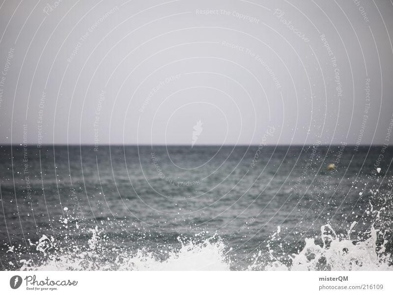 Rauschen. ästhetisch Kraft stagnierend Meer Meerwasser Meeresspiegel Wasser außergewöhnlich blau Wellen Wellengang Wellenform Wellenbruch Gischt Brandung Ostsee