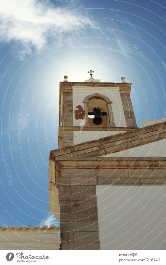 Gotteshaus. Freiheit Gebäude Religion & Glaube Architektur ästhetisch Kirche Turm außergewöhnlich Christliches Kreuz Bauwerk historisch aufwärts Gottesdienst