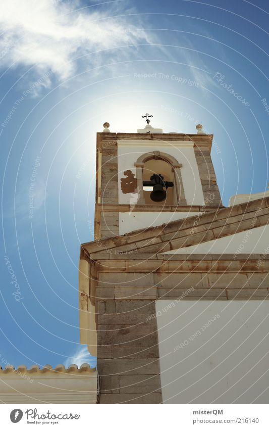 Gotteshaus. Freiheit Gebäude Religion & Glaube Architektur ästhetisch Kirche Turm außergewöhnlich Christliches Kreuz Kreuz Bauwerk historisch aufwärts Gottesdienst Glaube Gott