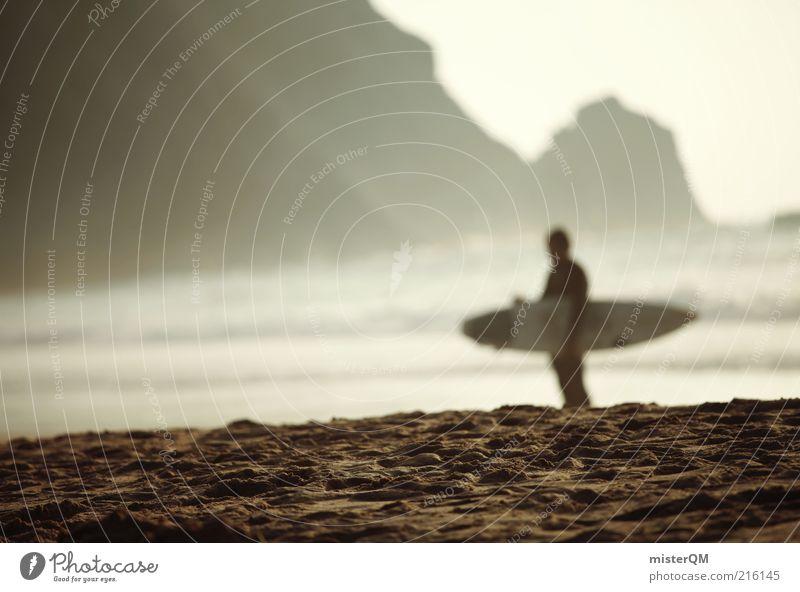 Surfer Dude. Mann Meer Strand Ferien & Urlaub & Reisen Sport Erholung Stil Küste Wellen Lifestyle ästhetisch Freizeit & Hobby Surfen Fernweh Surfer einzeln