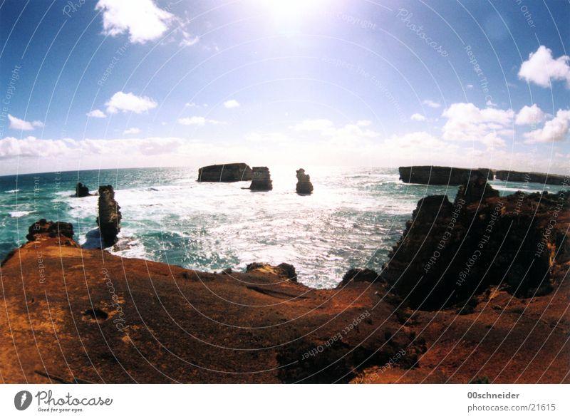 great ocean road Great Ocean Road Meer Küste Klippe Sandstein Brandung Wasser mehr Felsen Stein