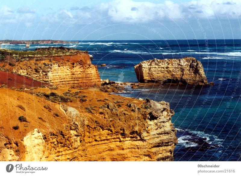 great ocean road 2 Meer Stein Wellen Küste Felsen Australien Brandung Sandstein Great Ocean Road