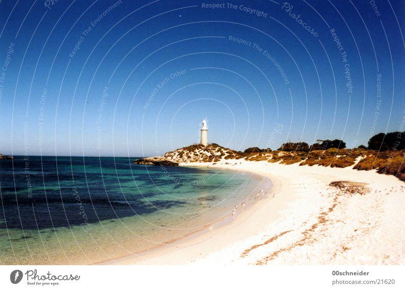 rottnest island/leuchtturm Meer Küste Leuchtturm Strand Island Australien Einsamkeit Sommer Insel Felsen Bucht Sand Wasser Sonne
