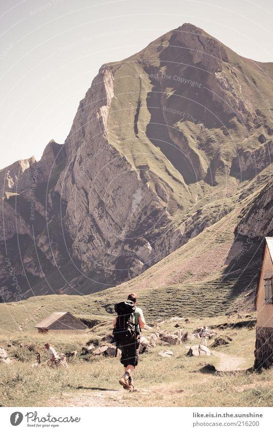 einfach mal runterkommen... Mensch Mann Jugendliche Ferien & Urlaub & Reisen Sommer ruhig Erwachsene Erholung Ferne Wiese Berge u. Gebirge Leben Gras Freiheit