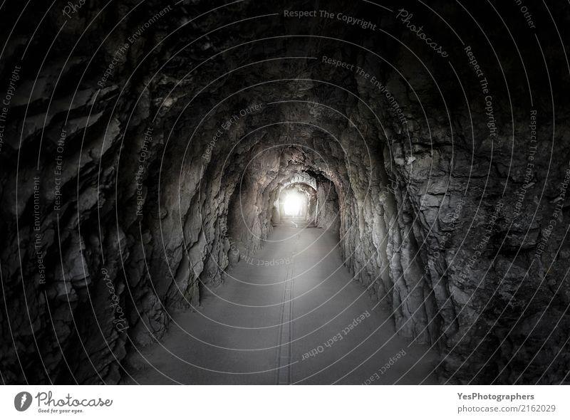 Steintunnel unter einem Berg Natur alt Erholung ruhig Berge u. Gebirge Straße Architektur Felsen hell Angst Zukunft Hoffnung Alpen lang unten