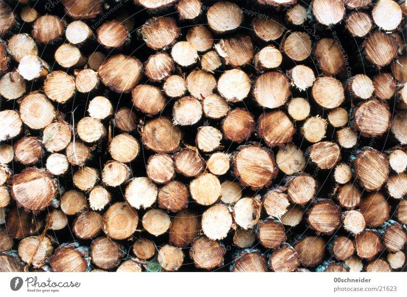 holzstapel Holz braun Lager Kiefer Holzstapel