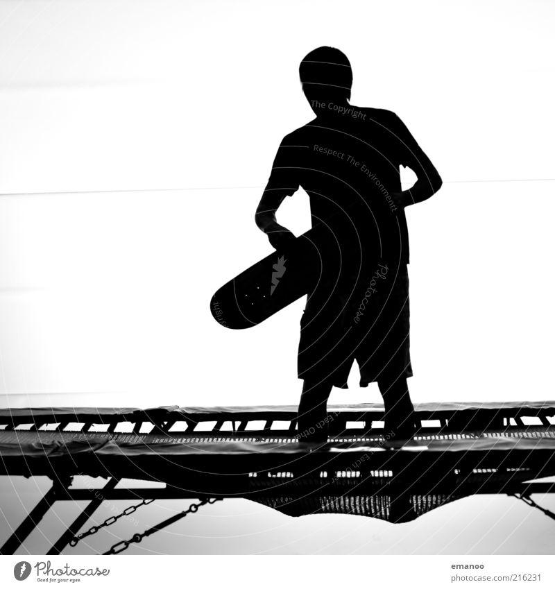 trampboard Mensch Jugendliche schwarz Sport Bewegung Stil Freizeit & Hobby außergewöhnlich stehen Lifestyle einzigartig festhalten Fitness Mut Skateboarding
