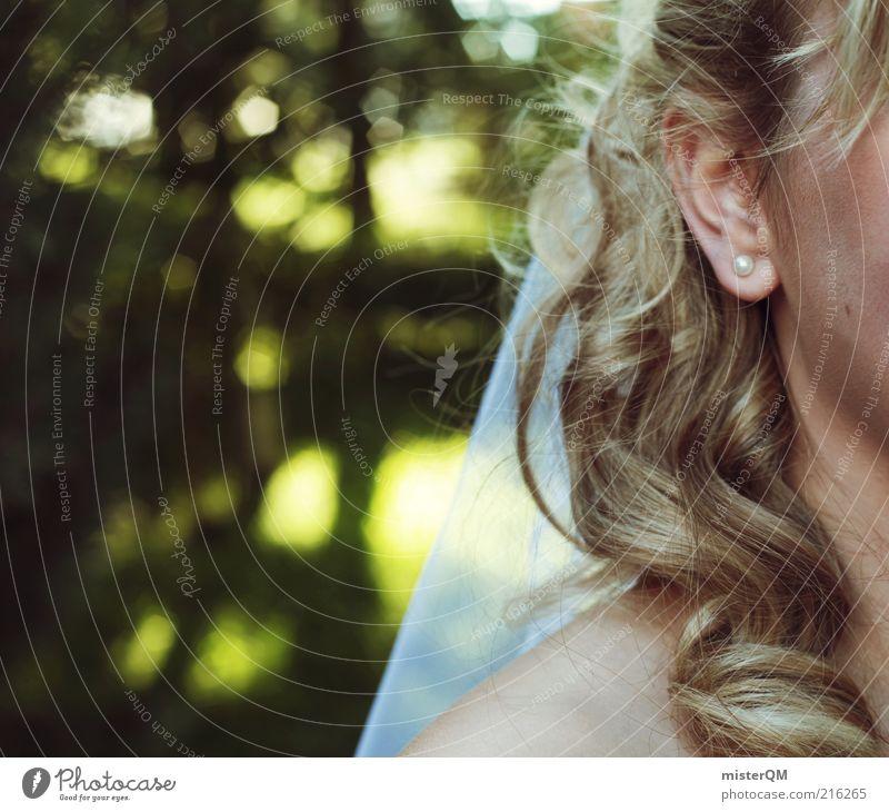 My Day. Lifestyle ästhetisch Hochzeit Schleier Braut Frau Haare & Frisuren Brautkleid Brautschleier Tradition weiß Ohr Ohrringe lockig Unschärfe Zukunft Ehe