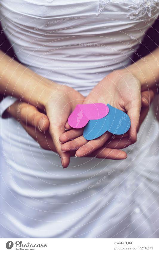 Behutsam. blau Liebe Glück Herz Zusammensein Zufriedenheit rosa Hochzeit Lifestyle ästhetisch Zukunft Vertrauen Familie & Verwandtschaft Liebespaar Paar anonym