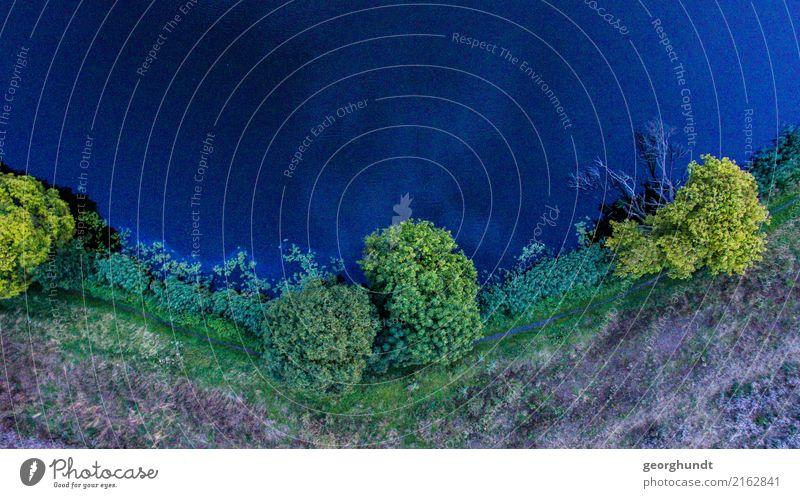 Druck von oben Tourismus Ausflug Abenteuer Kreuzfahrt Safari Sommer wandern Natur Landschaft Erde Luft Wasser Pflanze Baum Gras Sträucher Seeufer Flussufer