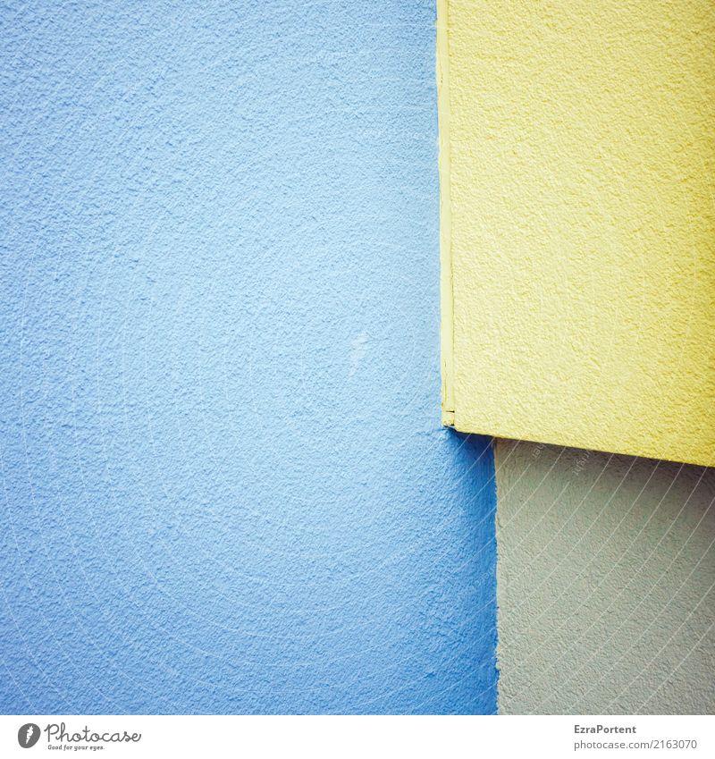  - blau Farbe Architektur gelb Wand Hintergrundbild Stil Gebäude Mauer Stein Fassade Design Linie Textfreiraum Ecke Beton