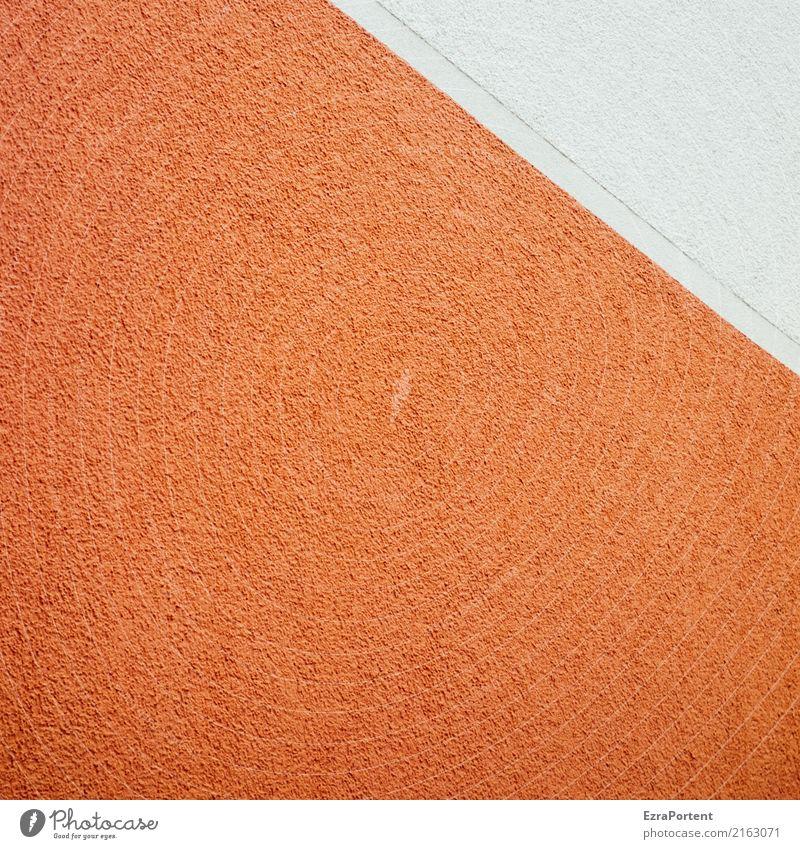 \ Stil Design Kunst Gebäude Architektur Mauer Wand Fassade eckig orange weiß Hintergrundbild Strukturen & Formen Linie Grenze Farbfoto Außenaufnahme Nahaufnahme