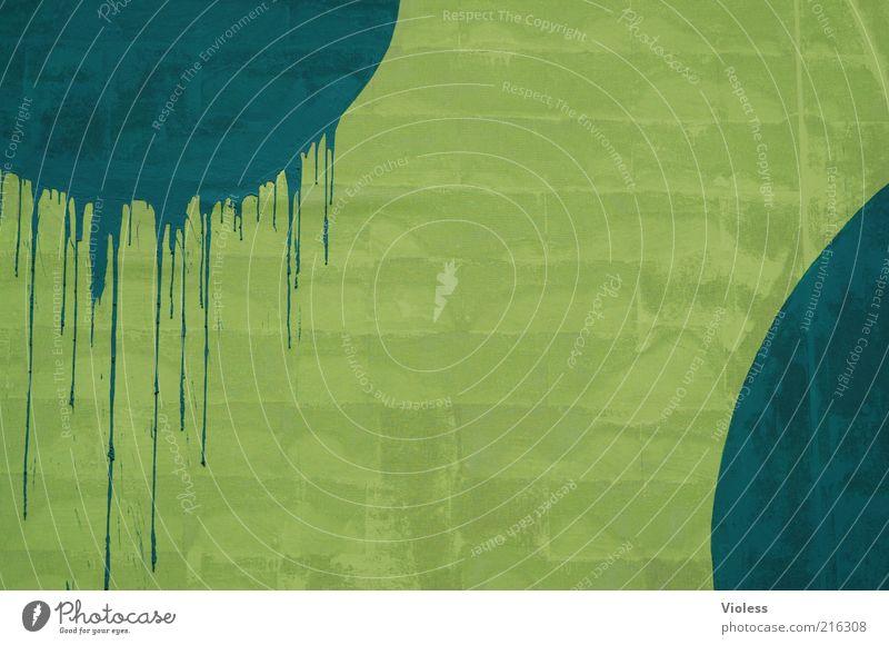 [HH10.1] - Verlaufen - haben wir uns nicht Zeichen einfach grün Wand Farbfoto Außenaufnahme Strukturen & Formen Kreis kreisrund Anschnitt Detailaufnahme