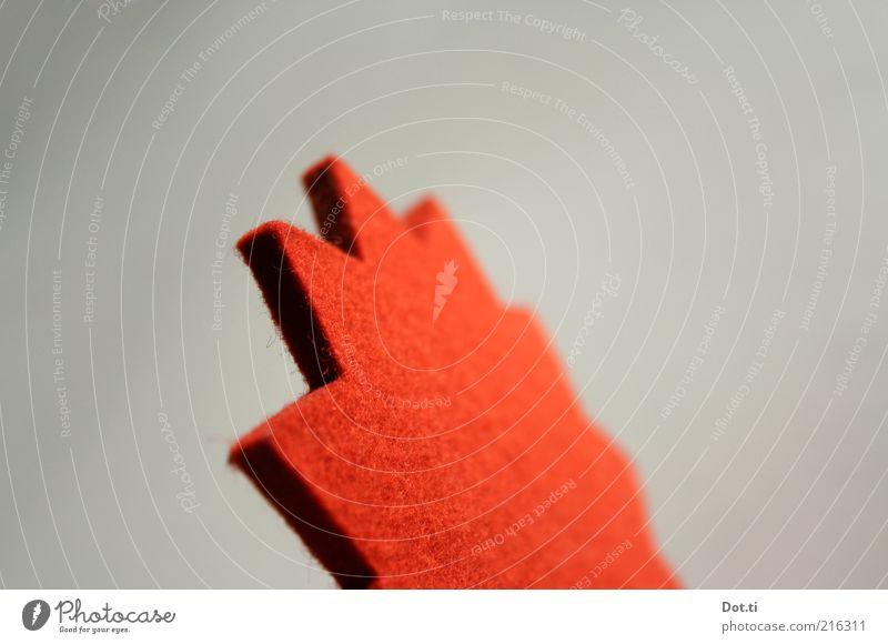 Zack Dekoration & Verzierung Zeichen Spitze weich rot Stern (Symbol) Zacken Filz gezackt Material Freisteller Bildausschnitt Zickzack Objektfotografie