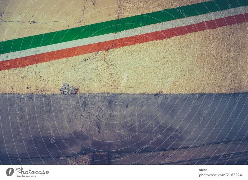 Ortskenntnis alt Stadt Lifestyle Graffiti Wand Stadtleben Europa dreckig Kultur Kreativität Vergangenheit Grafik u. Illustration Zeichen Symbole & Metaphern