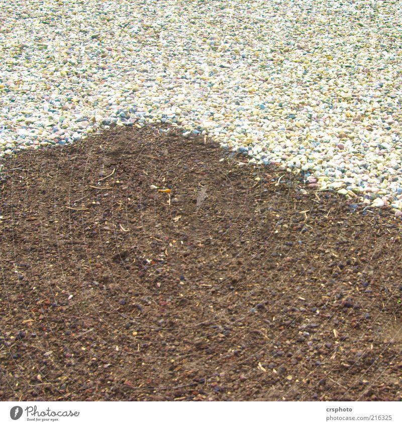 Ecke, ey... weiß grau Stein Sand braun Hintergrundbild Erde Bodenbelag Streifen Am Rand Kies Oberfläche graphisch Kieselsteine eckig