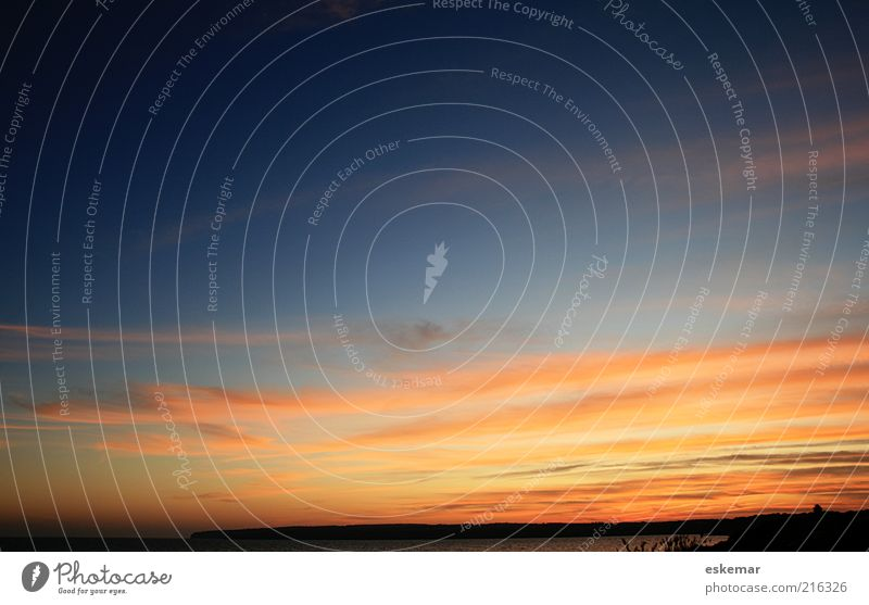 Formentera sunset Natur Wasser schön Himmel Meer Sommer Strand Ferien & Urlaub & Reisen Wolken Ferne Erholung Landschaft Küste Hintergrundbild Wetter Horizont