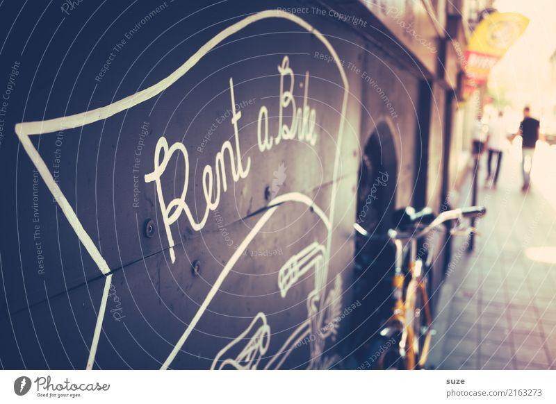 Radladen Wand Business Tourismus Fassade Stadtleben retro Schriftzeichen Fahrrad Kultur Schilder & Markierungen Kreativität authentisch Fahrradfahren Coolness