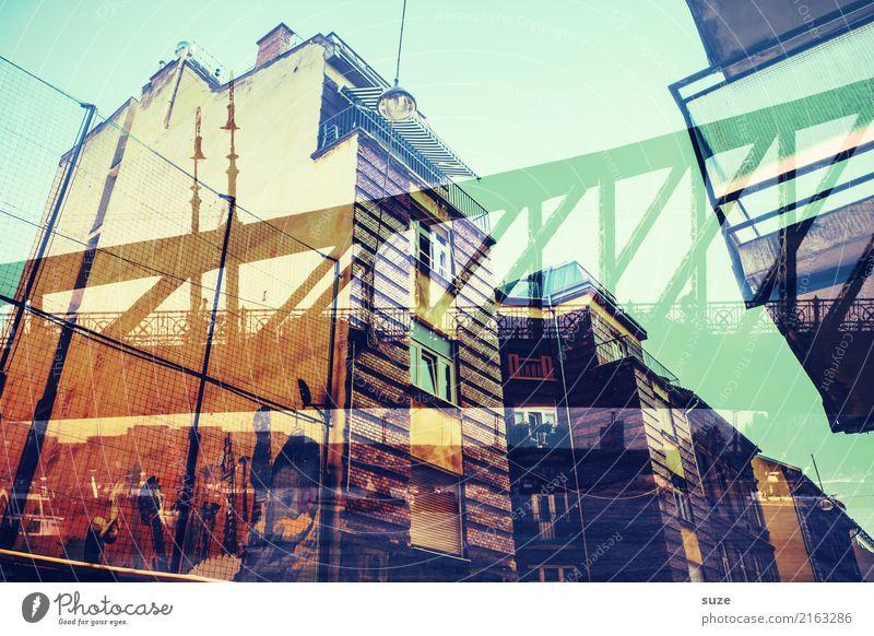 Überbrückung Lifestyle Ferien & Urlaub & Reisen Tourismus Sightseeing Städtereise Kunst Kunstwerk Kultur Stadt Hauptstadt Stadtrand Altstadt Brücke Bauwerk