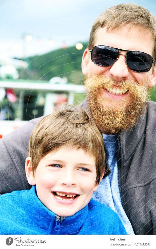 wenn... Kind Mensch Mann Freude Gesicht Auge Erwachsene Liebe lachen Junge Familie & Verwandtschaft Spielen Glück Haare & Frisuren Kopf Zusammensein