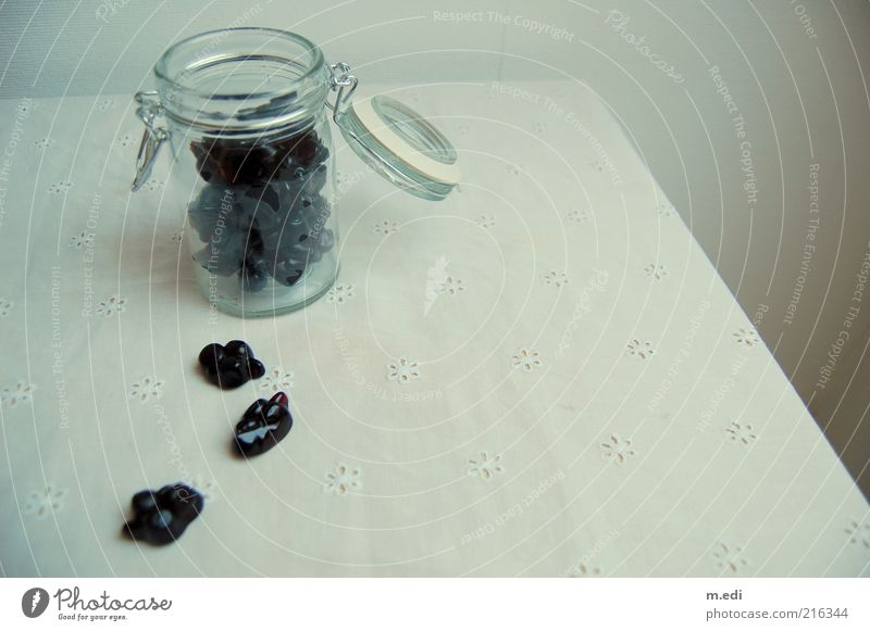 black currant Glas süß offen Süßwaren Bonbon Ernährung Johannisbeeren Einmachglas