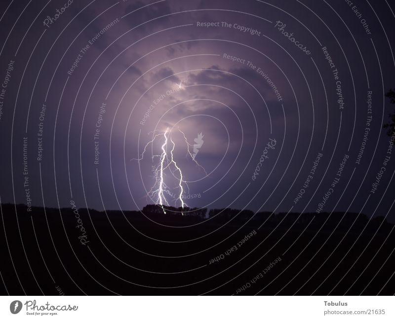 Wunderschönes Gewitter Blitze Nordlicht Nacht Langzeitbelichtung