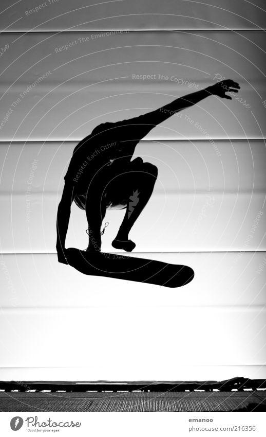 Grobform Lifestyle Stil Freude Freizeit & Hobby Freiheit Sport Sportler Mensch maskulin Jugendliche 1 Bewegung fliegen springen sportlich Coolness schwarz Mut
