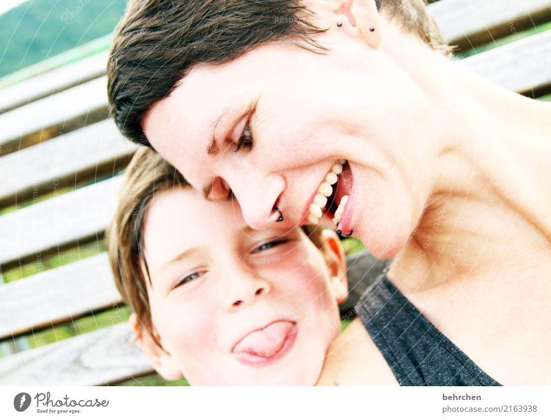 glück Kind Frau Mensch Freude Gesicht Auge Erwachsene Liebe lachen Familie & Verwandtschaft Junge Glück Haare & Frisuren Kopf Zusammensein Zufriedenheit