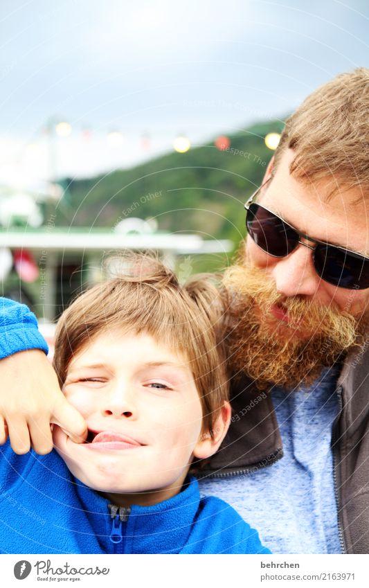 ...mit... Kind Mensch Mann Freude Gesicht Auge Erwachsene lustig Liebe lachen Junge Familie & Verwandtschaft Spielen Glück Haare & Frisuren Kopf