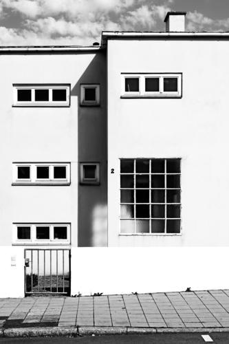 Rechteck in Stuttgart Haus Fassade Häusliches Leben Moderne Architektur