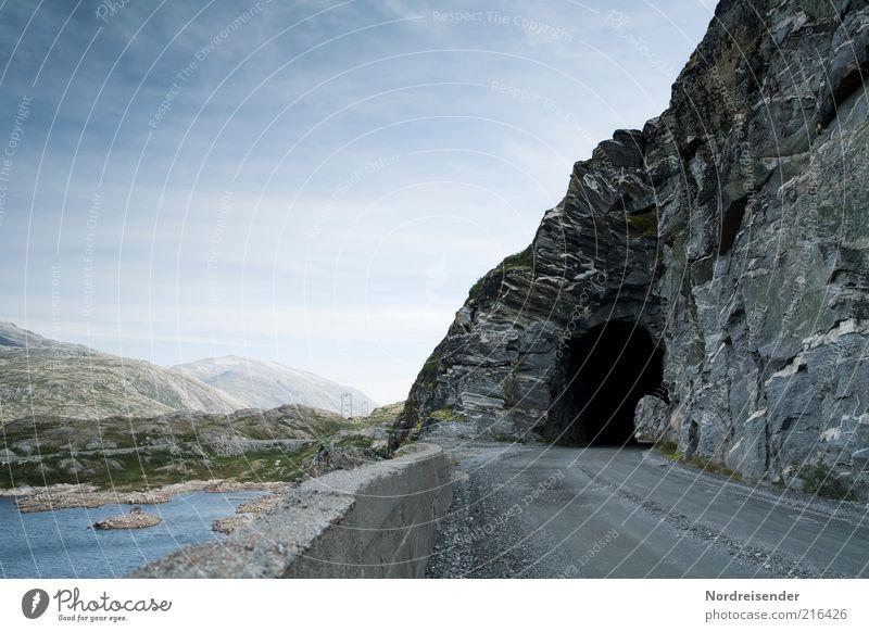 Schwarzes Loch Ferien & Urlaub & Reisen Tourismus Ausflug Ferne Freiheit Berge u. Gebirge Natur Landschaft Schönes Wetter See Autofahren Straße Wege & Pfade