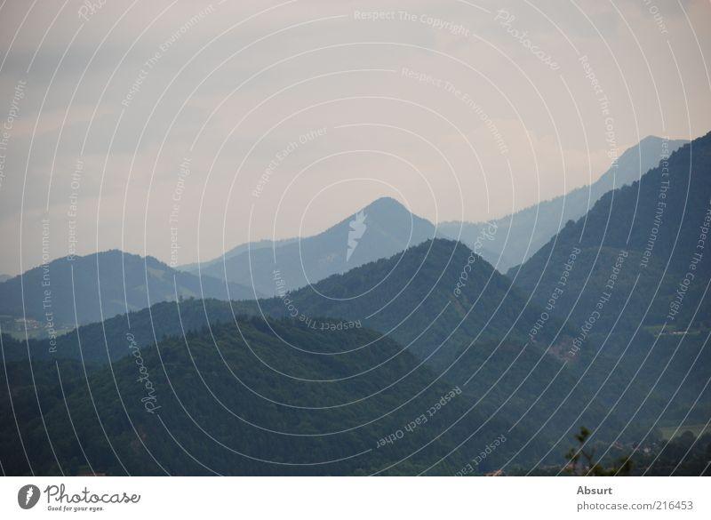 Tirol in 3D blau Sommer Berge u. Gebirge grau Landschaft Alpen