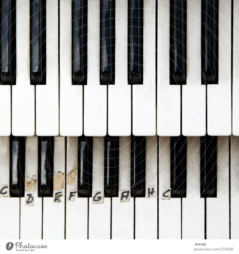 Tonleiter Lifestyle Entertainment Musik lernen Kultur Klavier Klaviatur Zeichen Schriftzeichen Klavier spielen Tasteninstrumente Klassik Konzentration