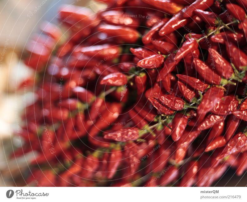 Feurig. rot außergewöhnlich Lebensmittel Ernährung ästhetisch Scharfer Geschmack heiß Gemüse Kräuter & Gewürze Markt Geschmackssinn Paprika Chili ungesund