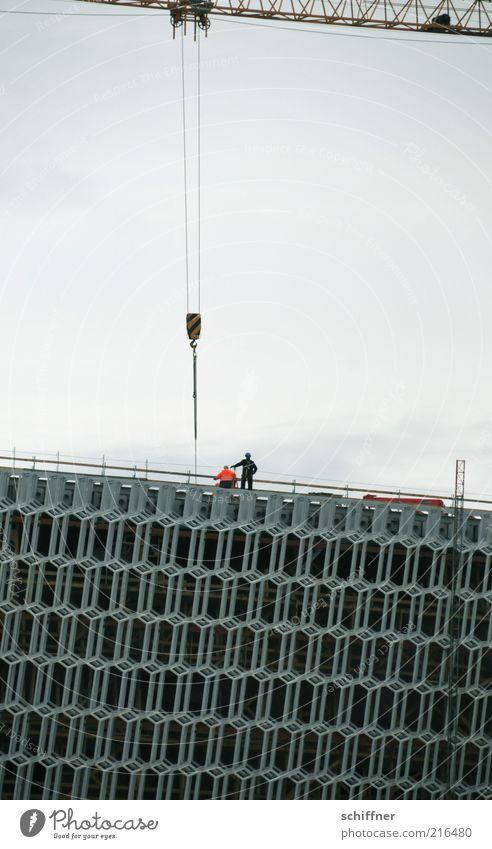 Harpa Architektur Gebäude Arbeit & Erwerbstätigkeit Baustelle Bauwerk Island bauen Kran Bauarbeiter Gerüst Konzerthalle Wabenmuster